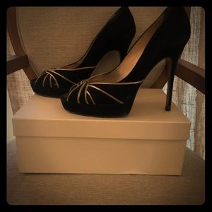 Jimmy Choo suede peep toe